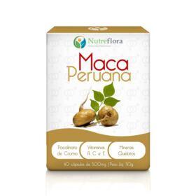 Maca Peruana - 500 mg - 60 cápsulas - Nutreflora -