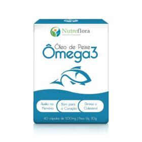 Ômega 3 óleo de peixe - 500 mg - 60 cápsulas - Nutreflora -