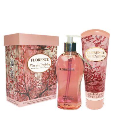Imagem 4 do produto Flor de Cerejeira Florence - Kit Sabonete Espumante 510ml + Loção Corporal 200g - Kit