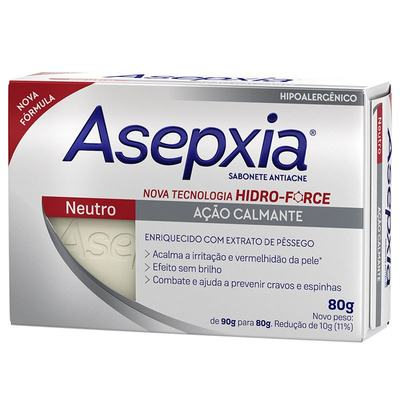 Imagem 1 do produto Sabonete Anti-Acne Asepxia Neutro 80g