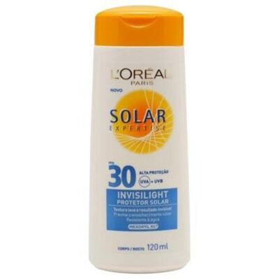 Protetor Solar L'Oréal Paris Solar Expertise Invisilight SPF 30 - 120ml
