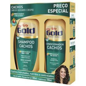 Kit Niely Gold Shampoo+Condicionador Cachos - Cacheados E Crespos | 200/500ml | 2 unidades