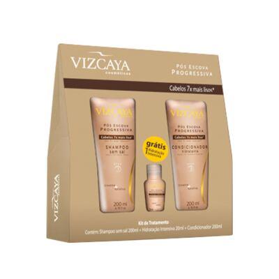 Imagem 1 do produto Kit Shampoo + Condicionador + Ampola Vizcaya Pós Escova - Kit