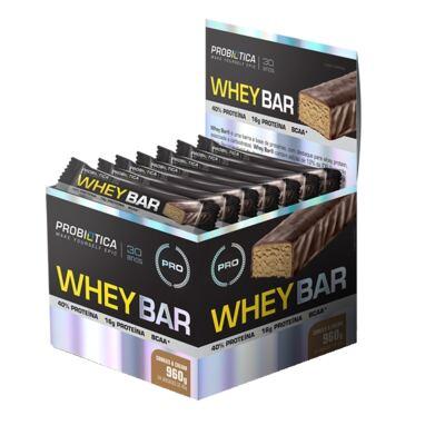 Whey Bar Low Carb CX 24 Und. - Probiótica - Cookies
