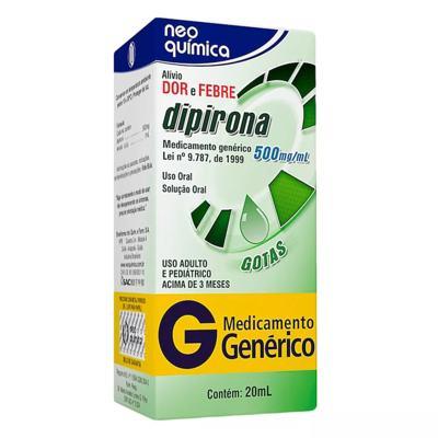 Dipirona Sódica Genérico Neo Química - 500mg   20ml