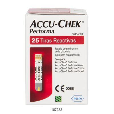 TIRA PARA TESTE DE GLICOSE PERFORMA ACCU-CHECK - Caixa com 25 Unidades