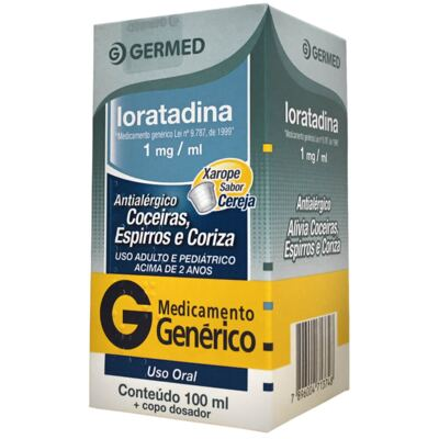 Loratadina 1mg Xarope 100ml Generico Germed