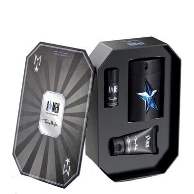 Imagem 1 do produto A*Men Rubber Flask Mugler - Masculino - Eau de Toilette - Perfume + Gel de Banho + Desodorante - Kit