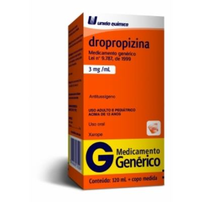 Dropropizina 3mg Xarope 120ml Generico Uniao Química