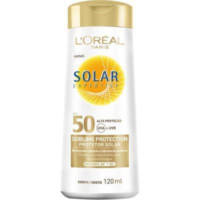 Imagem 1 do produto Protetor Solar L'Oréal Paris Solar Expertise Sublime Protection SPF 50 - 120ml