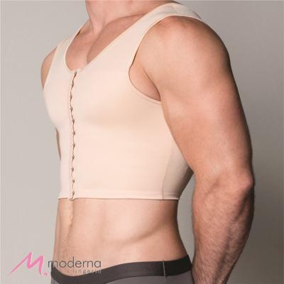 Imagem 2 do produto Corpete Masculino Curto com Abertura Frontal Ref 3306 Cinta Moderna - Corpete Masculino Curto Ref 3306 Moderna Bege G