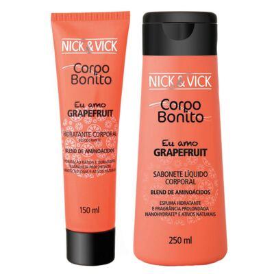 Corpo Bonito Grapefruit Nick & Vick - Kit Sabonete Liquido + Hidratante Corporal - Kit