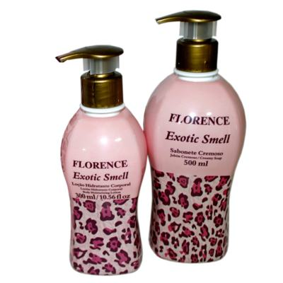 Exotic Smell Florence - Kit Sabonete Cremoso 500ml + Loção Corporal 300ml - Kit