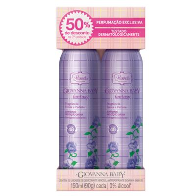 Imagem 1 do produto Flowers Collection Fantasy Desodorante Giovanna Baby - Desodorante Aerosol - 2x 150ml