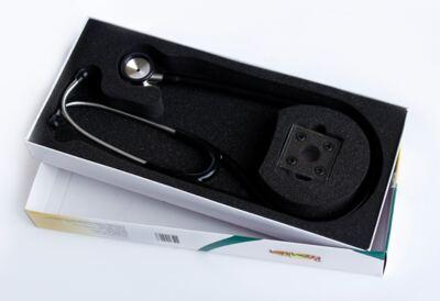 Imagem 3 do produto Kit Esteto Cardiológico Preto com Aparelho de Pressão Grafite Premium