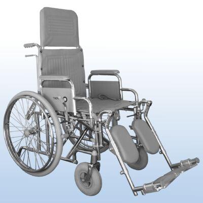 Cadeira de Rodas com Encosto Reclinável Comfort Praxis