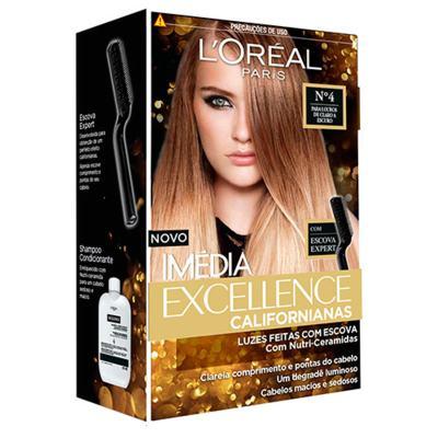Tintura para Cabelos L'oréal Paris Imédia Excellence Californianas - 4 - Louros de claro a escuro