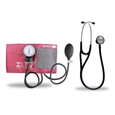Imagem 6 do produto Kit Esteto Cardiológico Preto com Aparelho de Pressão Vinho Premium