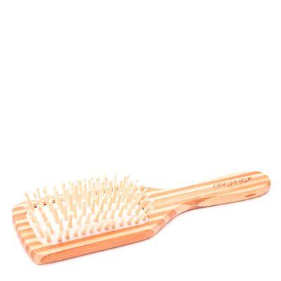 Escova de Bambu Quadrada Orgânica - Escova de Cabelo - 1 Un