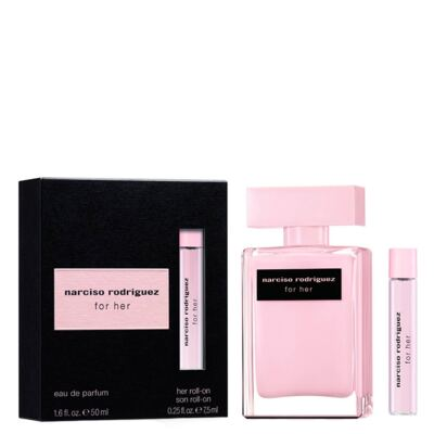 Imagem 1 do produto Narciso Rodriguez For Her Narciso Rodriguez - Feminino - Eau de Parfum - Perfume + Roll-On - Kit
