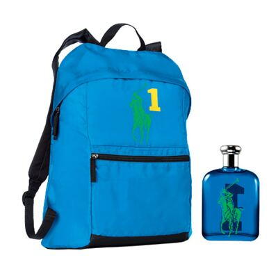 Polo Big Pony Blue Ralph Lauren - Masculino - Eau de Toilette - Perfume + Mochila - kit