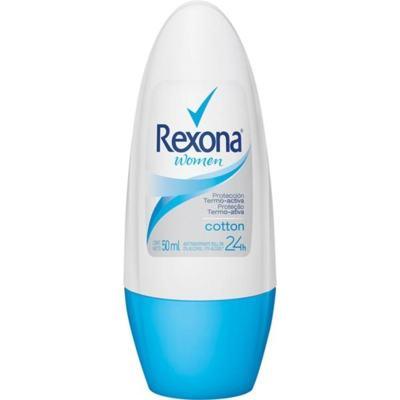 Desodorante Roll-On Rexona Feminino Cotton 50ml - 50mL