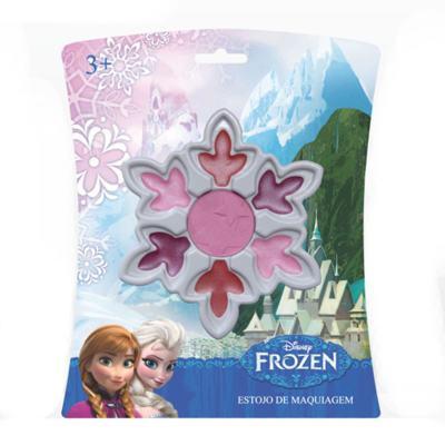 Estojo de Maquiagem Disney Frozen Cristal de Neve Beauty Brinq - Maquiagem Infantil - Kit