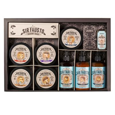 Imagem 1 do produto Sir Fausto Grande Kit -  Pós-Barba + Shampoo + Óleo + Creme + Pomadas - Kit