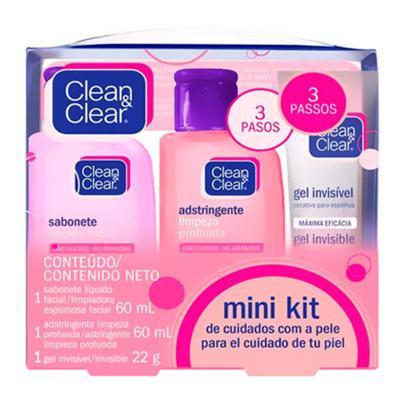 Imagem 1 do produto Kit Sabonete Líquido + Adstringente + Gel Secativo Clean & Clear Mini - Kit