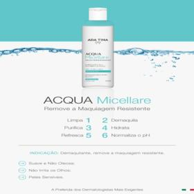 Removedor de Maquiagem Ada Tina Acqua Micellare - 250ml