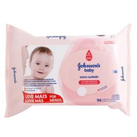 Lenço Umedecido Johnson's Baby - Extra Cuidado | 96 unidades