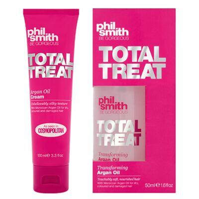 Imagem 1 do produto Kit Creme de Pentear + Protetor Térmico Phil Smith Total Treat Argan Oil - Kit