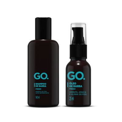 Imagem 1 do produto Go Fresh Kit - Shampoo + Óleo de Barba - Kit