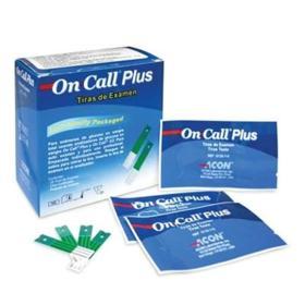 Tiras para Teste de Glicemia - On Call Plus II   Com 25 Tiras