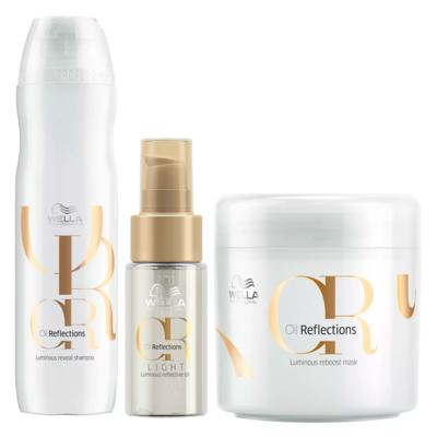 Wella Professionals Oil Reflections Kit - Sh+ Óleo Light + Máscara - Kit