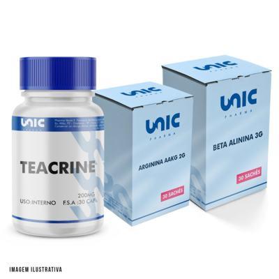 Imagem 1 do produto Kit Pré Treino Com Beta Alanina + Arginina AAKG + Teacrine