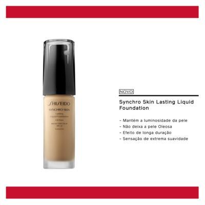 Imagem 5 do produto Synchro Skin Lasting Liquid Foundation SPF 20 Shiseido - Base Líquida - N2 - Neutral 2