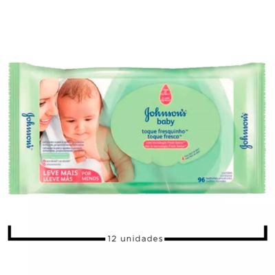 Imagem 2 do produto Kit Johnson's Baby Toque Sequinho - Toalhas Umedecidas - 12x96 Un
