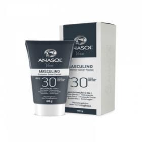 Anasol Protetor Solar Facial Masculino FPS 30 - 60 g - Anasol Protetor Solar Facial Masculino FPS 30 - 60 g