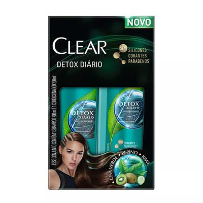 Kit Shampoo Anticaspa Clear + Condicionador - Detox Diario | 200ml