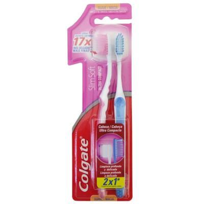 Imagem 1 do produto Escova Dental Colgate Slim Soft Compact Suave Macia LV2 PG1