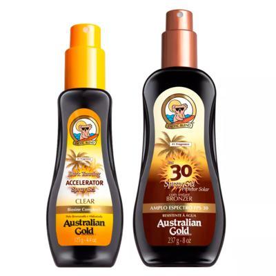 Imagem 2 do produto Australian Gold Dark Tanning Kit - Protetor Solar + Acelerador - Kit