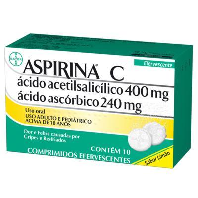Imagem 4 do produto Aspirina C - 400mg + 240mg, caixa com 10 comprimidos efervescentes -