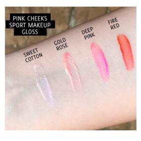 Gloss Labial Pink Cheeks - Sport Make Up - Deep Pink
