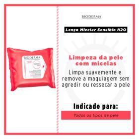 Lenço Micelar Demaquilante Bioderma - Sensibio H2O - 25 Un