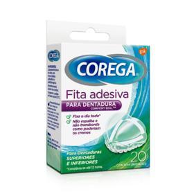 Fita Adesiva para Dentadura Corega - Fita Adesiva | 20 unidades