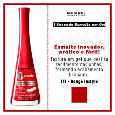 Imagem 4 do produto 1 Seconde Gel Bourjois - Esmalte - T11 - Rouge Instyle