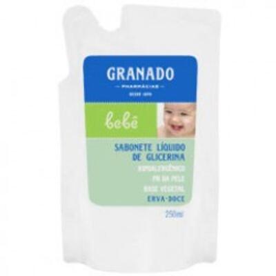 Imagem 1 do produto Sabonete Líquido Granado Bebê Erva Doce Refil 250ml