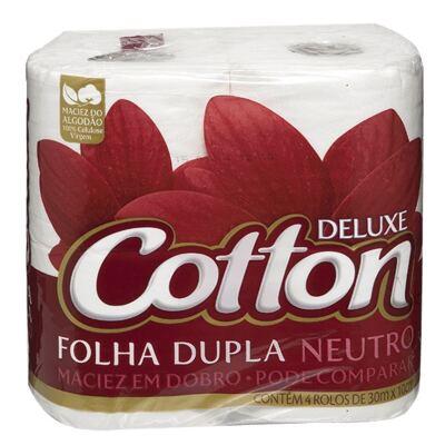 Imagem 1 do produto Papel Higiênico Cotton Folha Dupla Neutro 4 Unidades