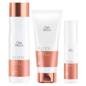 Kit Wella Professionals Fusion - Shampoo + Condicionador + Tratamento - Kit